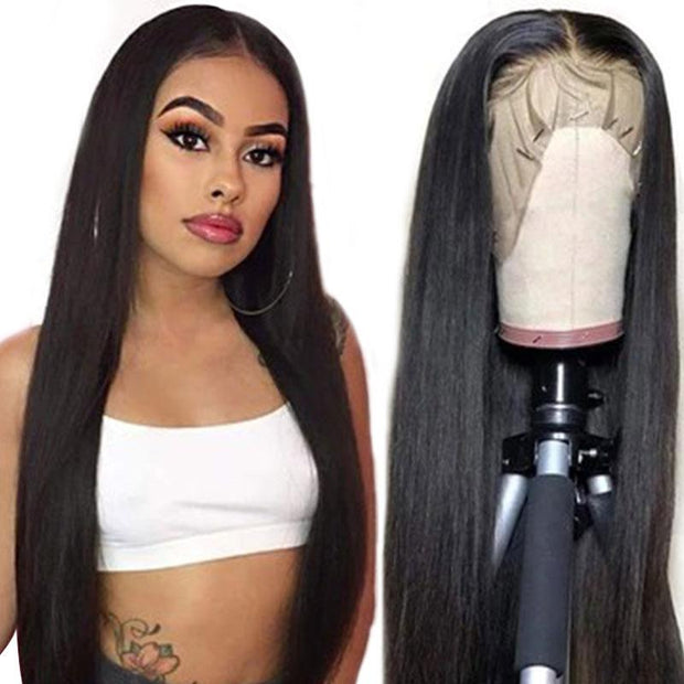 Ali Grace 12A Grade Brazilian Straight 13x5 Lace Part Human Hair Wigs 150% 180% Density Pre Plucked Wigs For Women 14 -26inches Lace Part Wig AliGrace