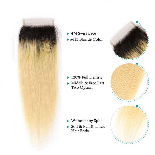 Ombre Brazilian Straight Hair Bundles-8