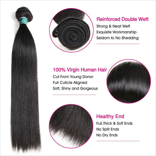 Brazilian Straight Human Hair 4 Bundles-13