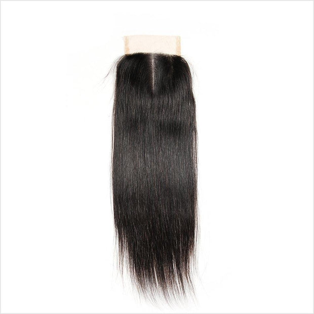 Malaysian Straight Hair 4*4 Closure Medium Brown/Transparent Swiss Lace Closure Remy Human Hair Straight Lace Closure Malaysian 4*4 Lace Closure AliGrace