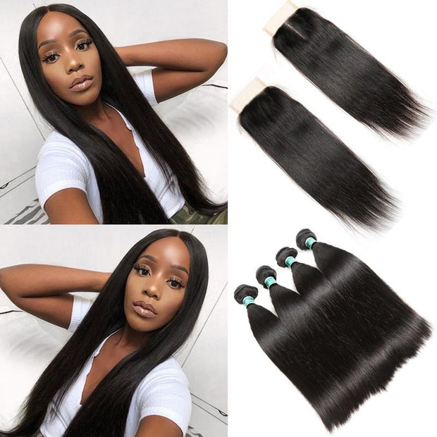Brazilian Straight Human Hair 4 Bundles-9