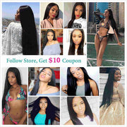 Peruvian Straight Hair 13*4 Lace Frontal-7
