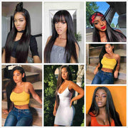 Full Lace Wigs Straight Human Hair Wigs-12