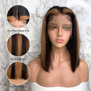 Straight Bob Lace Front Wigs-12