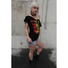 Load image into Gallery viewer, Sublime Rasta Sun V-Collarless Braided Sides Mary Jane Cutout Tee