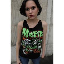 Load image into Gallery viewer, Misfits Pumpkin Slashed Sleeve Spiderweb Cut Tee