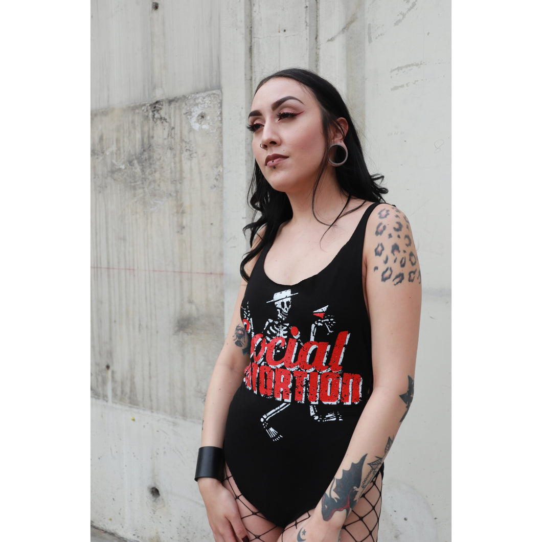 Social Distortion Tied Sides Cut Bodysuit