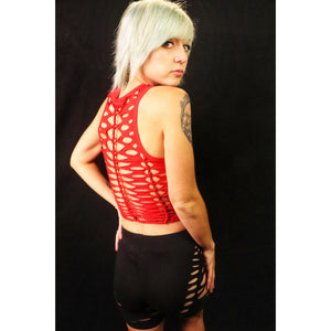 Crimson and Clover Cut Tank Crop Top
