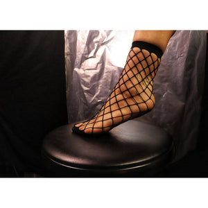 Checkers Fishnet Woman's Single Pair Socks