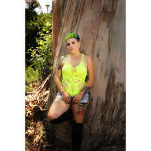 Load image into Gallery viewer, Taxi Neon Yellow Bodysuit