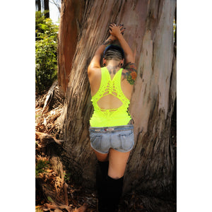 Taxi Neon Yellow Bodysuit