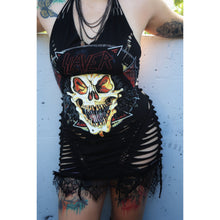 Load image into Gallery viewer, Slayer Halter Cut T-Shirt Dress