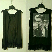 Load image into Gallery viewer, David Bowie Kimono Fringe Vest