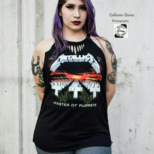 Load image into Gallery viewer, Metallica A-Cut Slashed Neck Braided Sides Cut Tee
