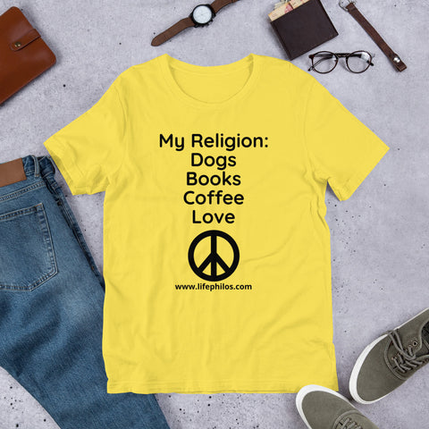 My Religion:  Dogs, Books, Coffee, Love