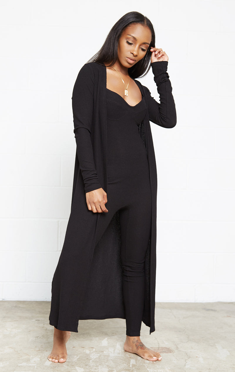 BLACK GIRL BOSS JUMPSUIT SET