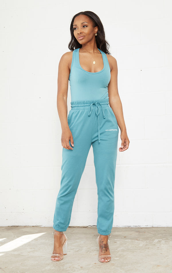 SPRING TEAL SWEATSUIT SET