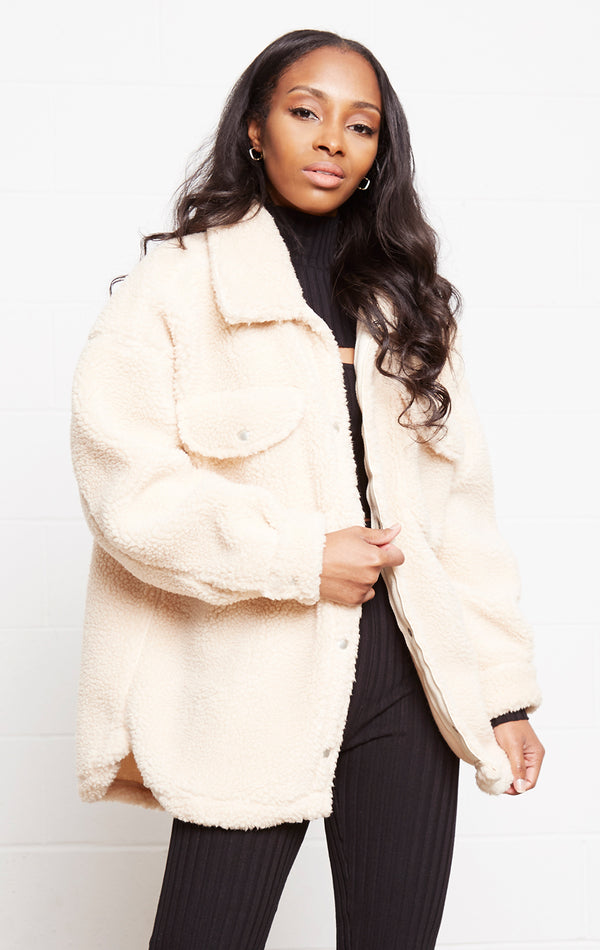 TAUPE TEDDY SHERPA