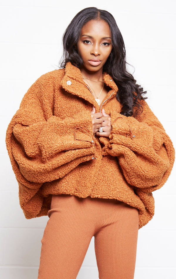 RUST CHIC CAPE JACKET