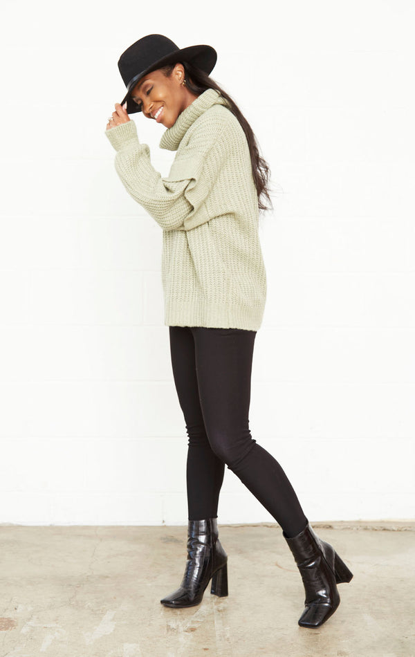 SAGE KNIT CHIC SLEEVE SWEATER