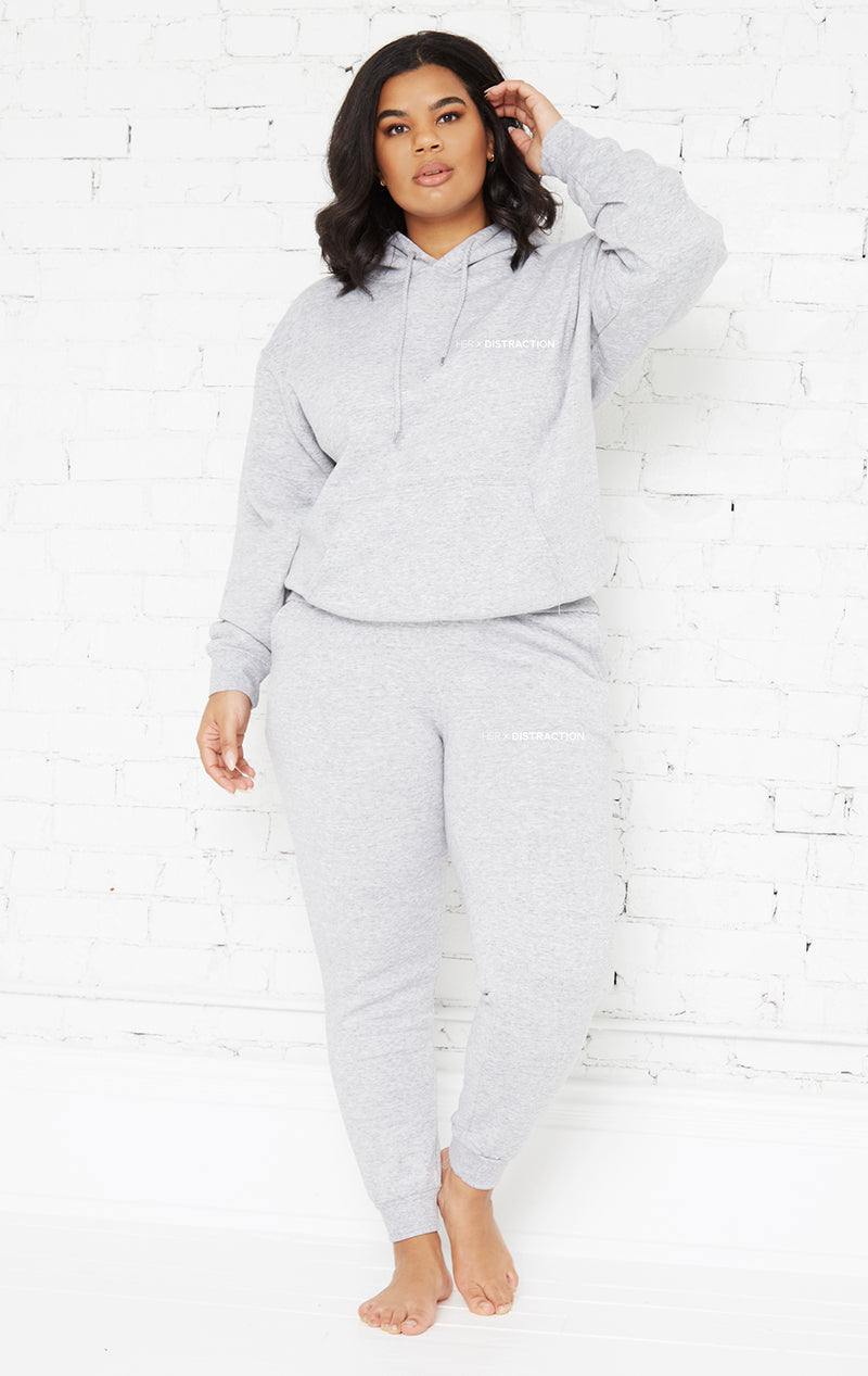 HEATHER GREY SWEATSUIT SET