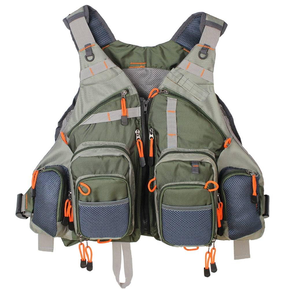 Men's Fishing Adjustable Vest: Multi-Pockets with Mesh Backpack