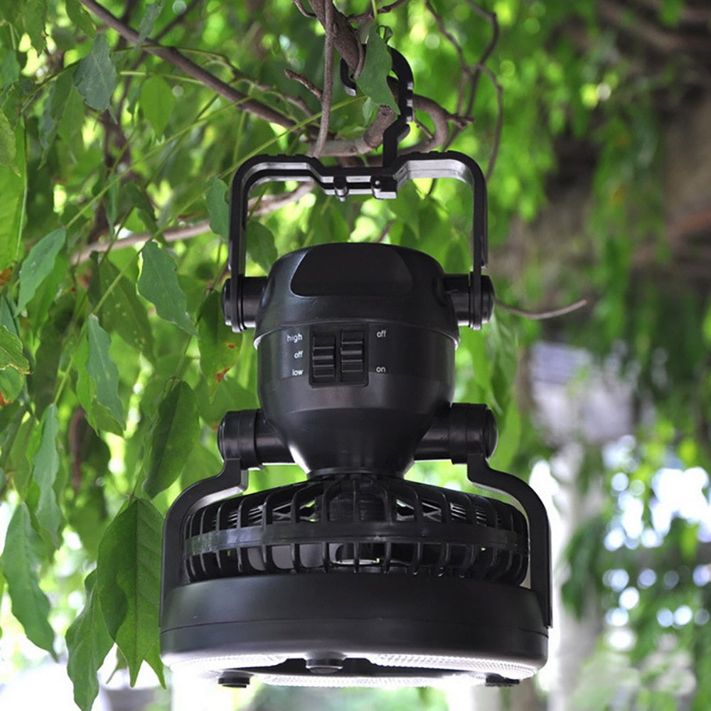 2In1 LED Camping Lantern With  18 LED Flashlight/Ceiling Fan