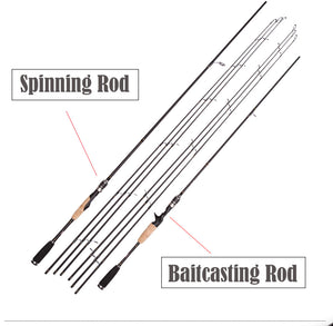3-Tips Ultralight Carbon Spinning/Casting Rod