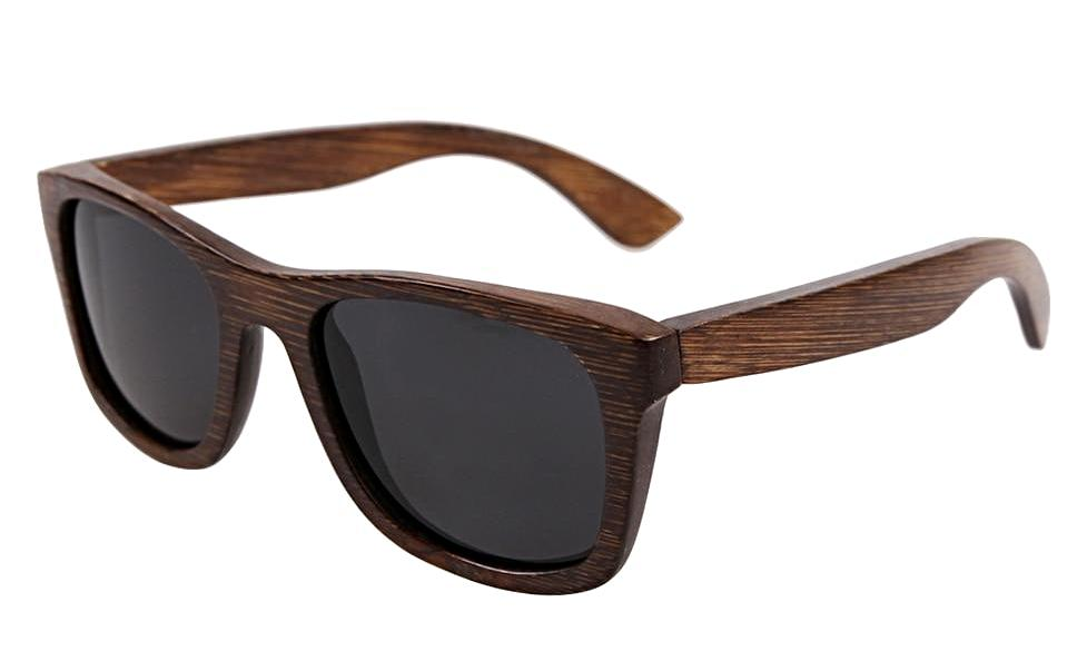 BerWer 2018 Bamboo Frame Sunglasses Polarized