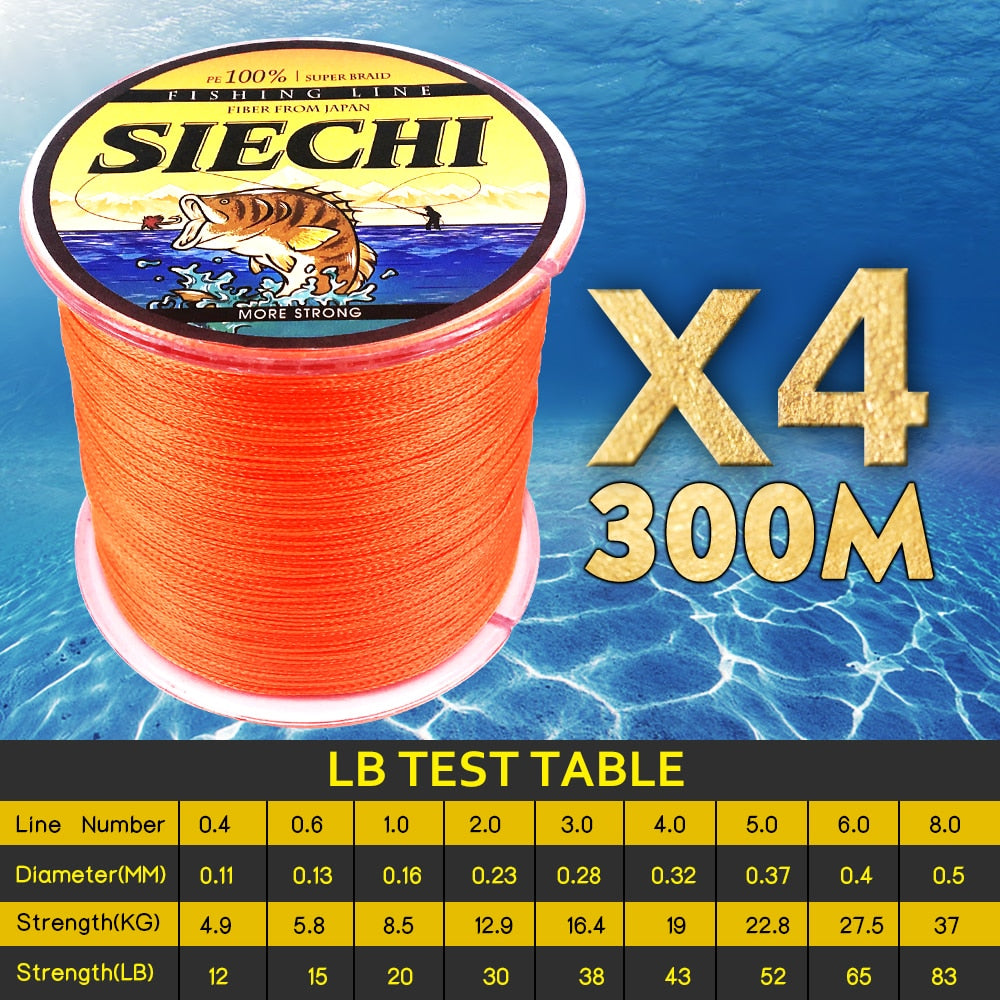 SIECHI 4-Strands Japan Braided Lines 300M