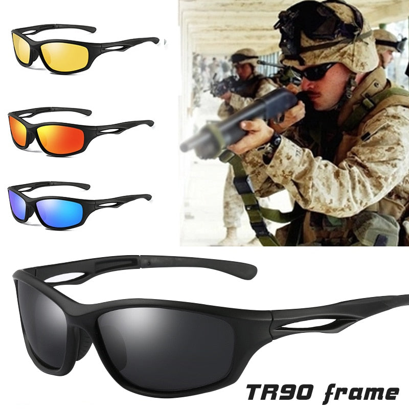 Polarized TR90 Frame Tactical Sunglasses