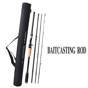 Travel Spinning/Casting Rods - 4 Sections, 4 Different Lengths