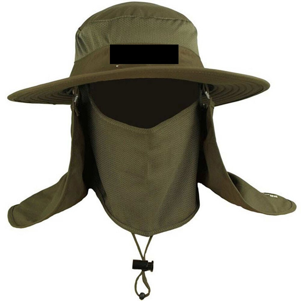 Fishing Hat with Neck Face Curtain