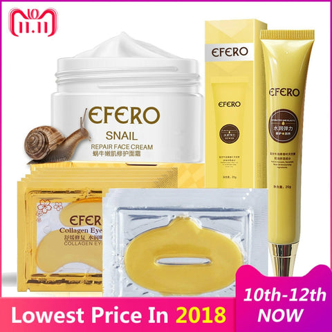 efero 12pcs/set Snail Essence Moisturizing