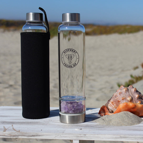 Elixir Water Bottle with Amethyst