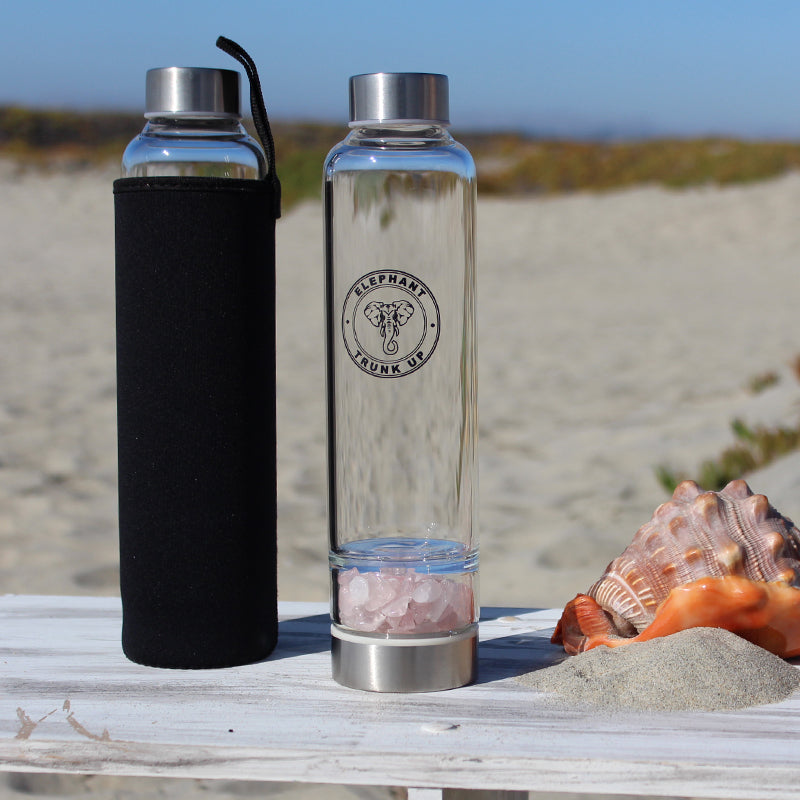 Elixir Water Bottle with Rose Quartz