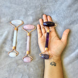 Crystal Facial Roller- Rose Quartz