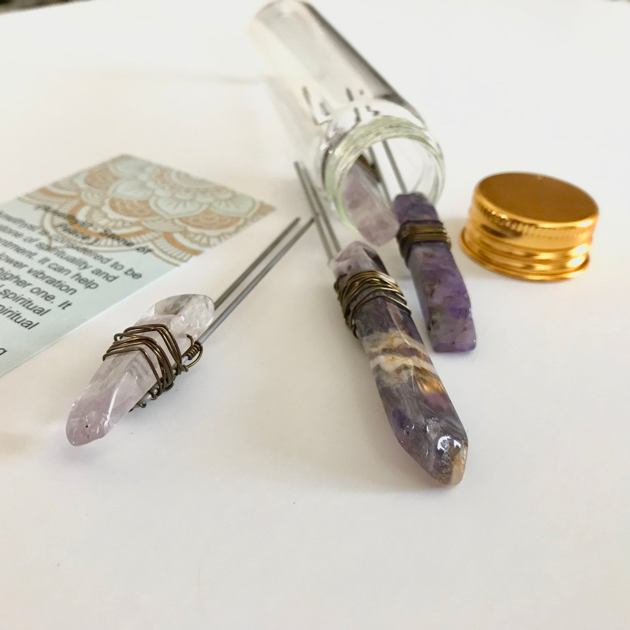 Vibes In A Vial- Amethyst Hair Pin Set