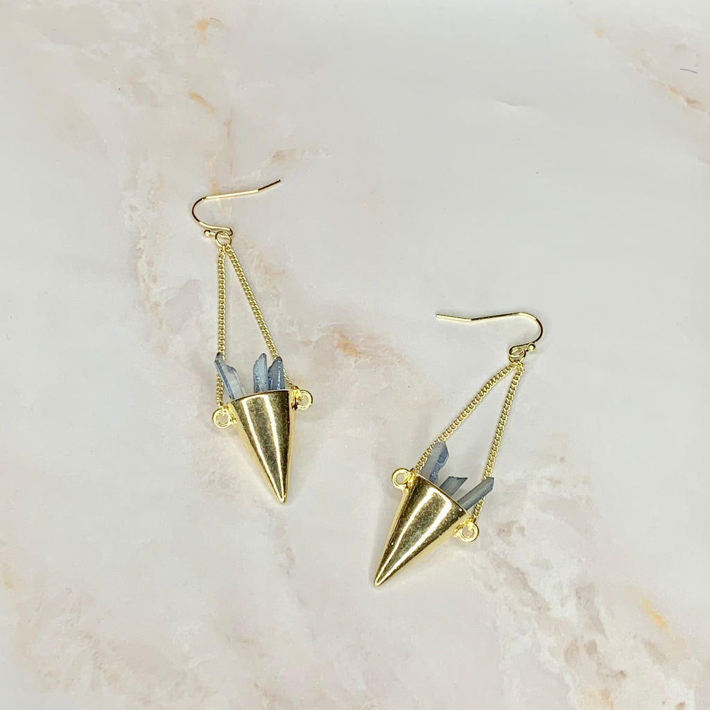 """Crystals In A Cone"" Earrings"