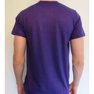 Purple Longline curved hem - Unisex t-shirt
