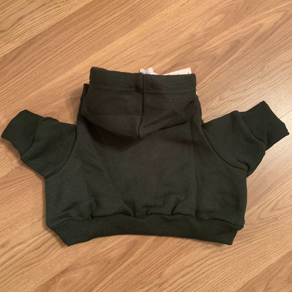 Dog Hoodie - Signature style in jet black or Forest Green