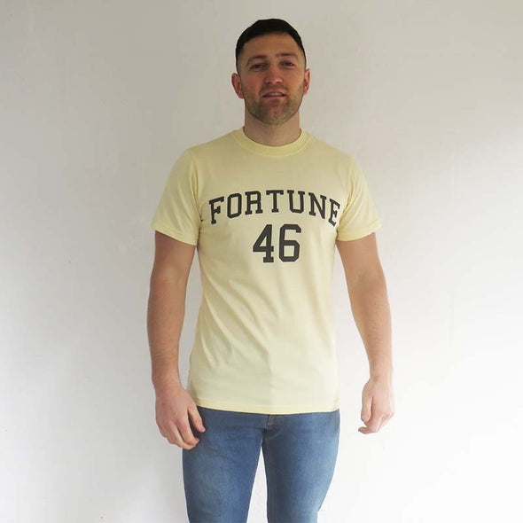 Fortune 46 cream college t-shirt