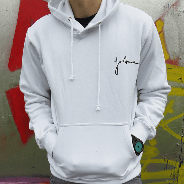 Relaxed Signature Hoodie - White - Unisex - Fortune Forty Six