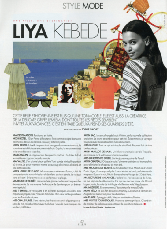 Elle France: Une Fille, Une Destination Liya Kebede