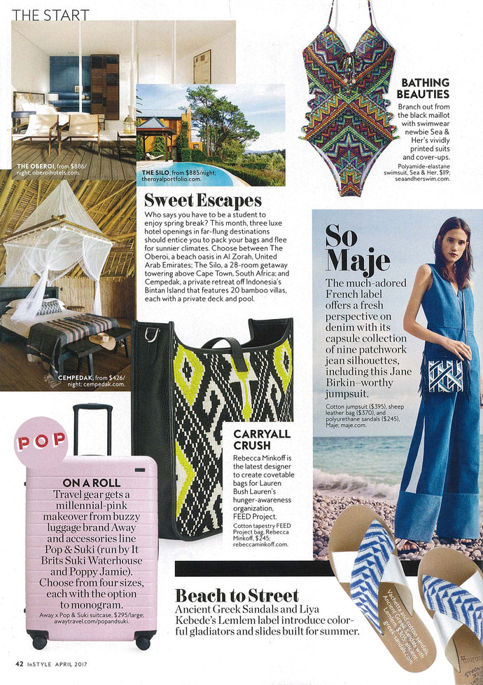 In Style Magazine:  Sweet Escapes