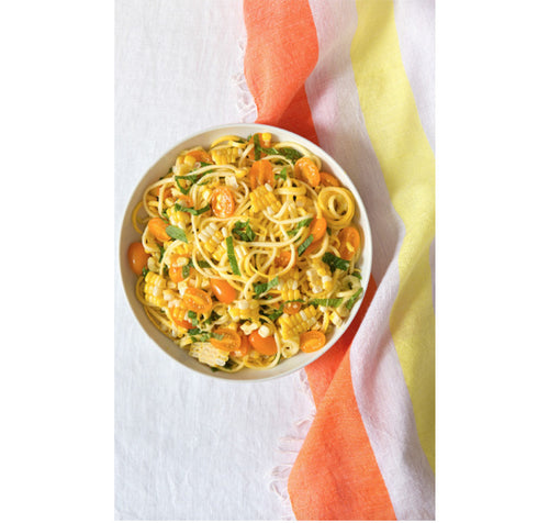 Lemlem x Clean Food Dirty City: Summer Squash Noodles Inspired By The lemlem HALI Beach Dress