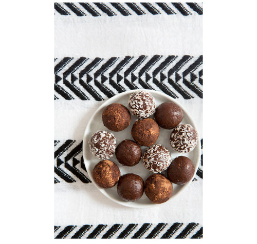 Lemlem x Clean Food Dirty City: Tahini Truffles Inspired by the Freya Shift Dress