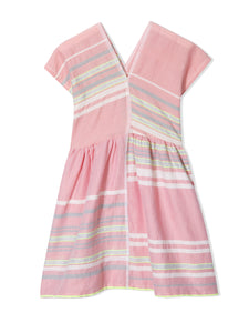 Safia Girls Easy Dress - Pink