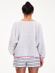 Anan Spliced Blouse