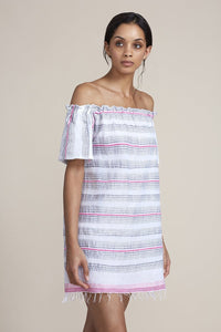Tereza Ruffle Neck Dress